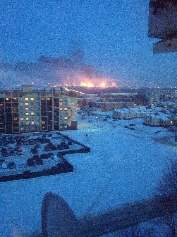 Massive Oil Refinery Catches On Fire, Happens To Be In Russia