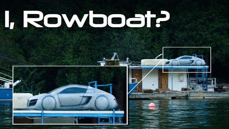 How did an I, Robot prop car end up on a Canadian salvage barge?