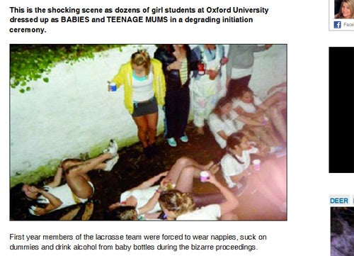 Shocker: Oxford Girls Like to Get Drunk and Embarrass Themselves, Too