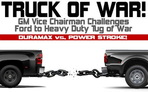 """Truck Off, Bitches: GM Vice-Chairman Challenges Ford To Heavy Duty """"Truck Of War"""""""
