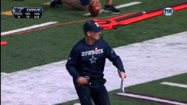 Who Has The Funnier Challenge-Flag-Throwing Motion, Jason Garrett Or Mike Smith?