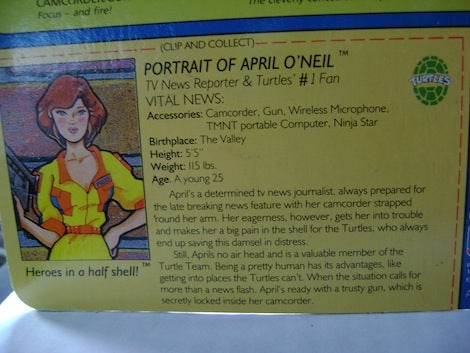 The Evolution Of April O'Neil