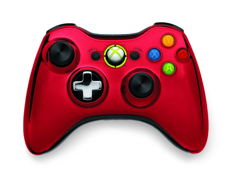 Xbox 360 Gets Two Shiny New Chrome Control Pads
