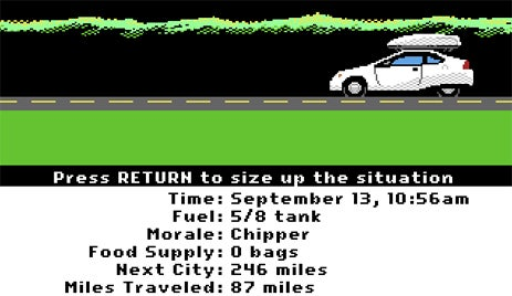 Oregon Trail Remake Ditches Wagons for SUVs, Hybrids And... Umm, Wagons