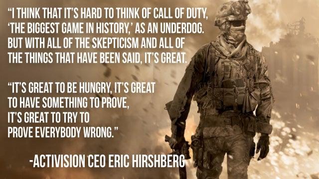 Modern Warfare 3: The Underdog?