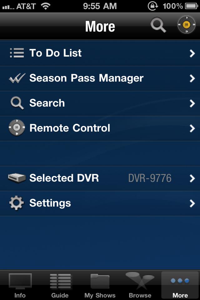 TiVo iPhone