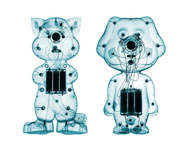 Cheap toys look surprisingly cool through X-rays