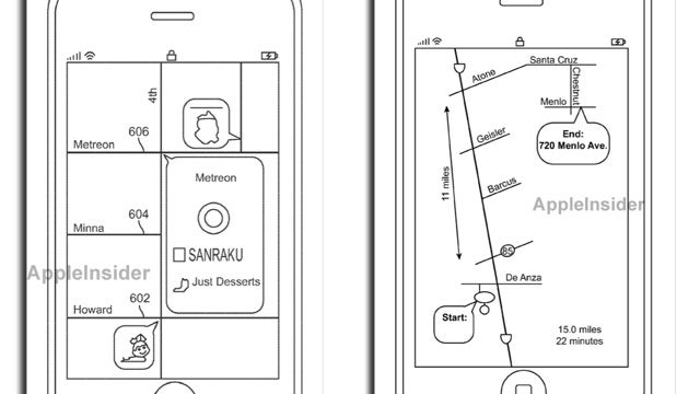 New Apple Patents Show Exaggerated and Distorted iPhone Maps to Help You Get Around Easier