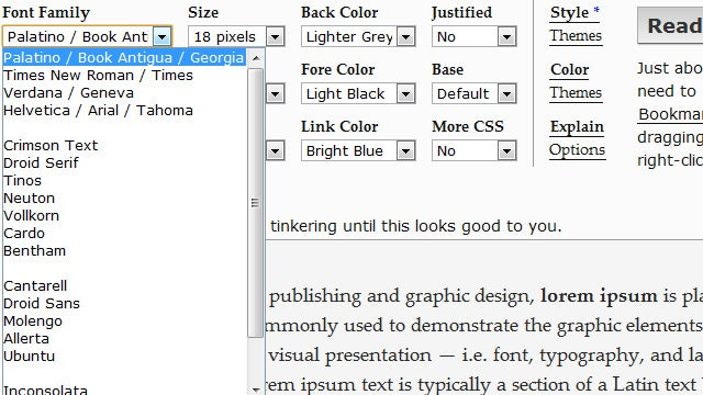 Readable Bookmarklet Adds Even More Options for Text-Only Reading