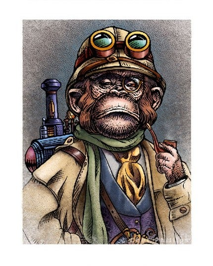 Portraits From the Steampunk Planet of the Apes