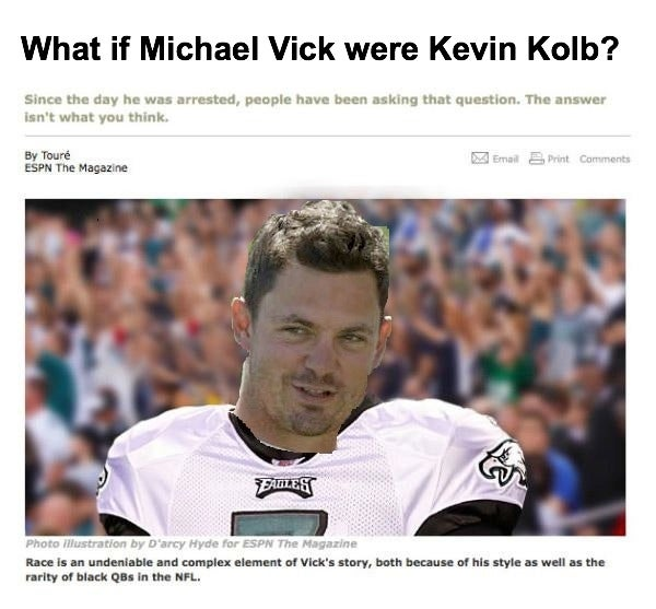 "Your Collection Of ""What If White Michael Vick Were..."" Photoshops"
