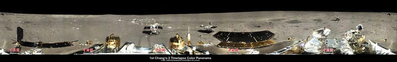 The first timelapse color panorama of China's lunar Rover