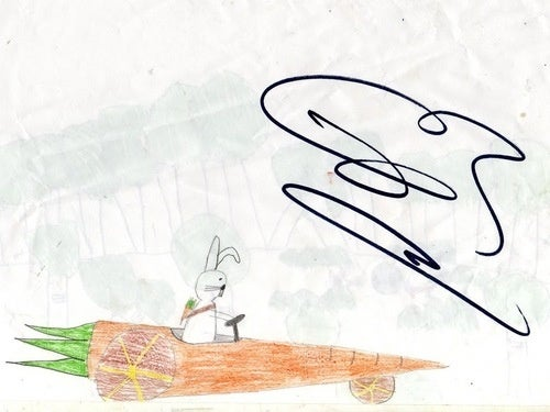 How To Get Jenson Button to Sign Your Race Carrot