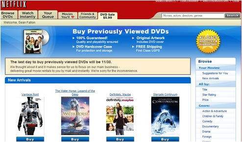 Netflix No Longer Selling Used DVDs