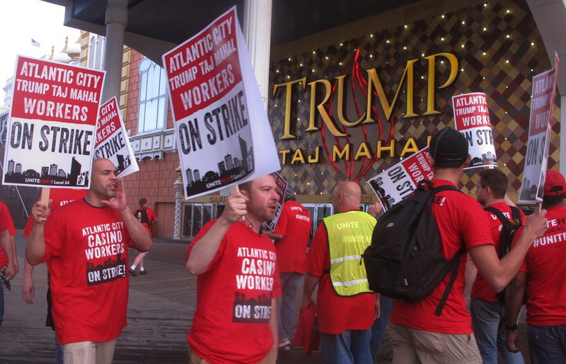 Trump Taj Mahal Workers Strike Over Stagnant Wages, Lack of Healthcare