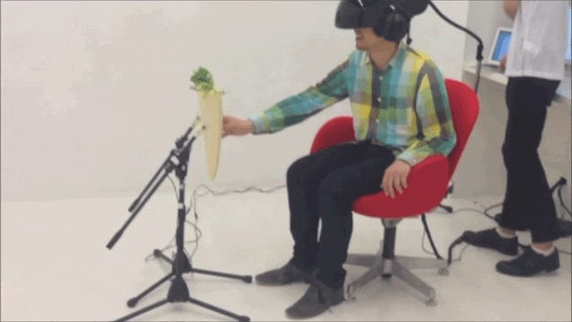 Sexually Harass a Radish, While Wearing a Futuristic Helmet