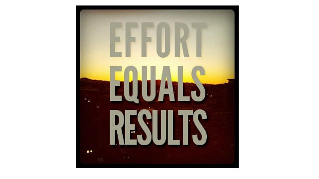 COTD: Effort equals results edition