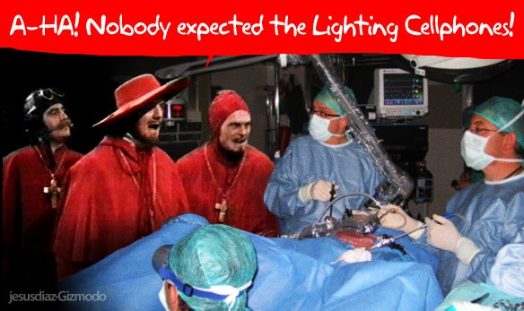 Surgeons Finish Operation Using Just Cellphone-Screen Lighting