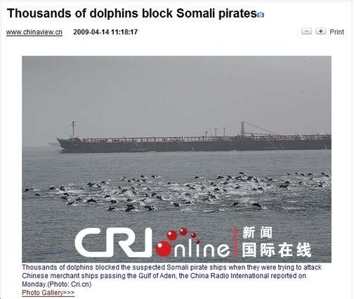 'The Pirates Could Only Lament Their Littleness Before the Vast Number of Dolphins'
