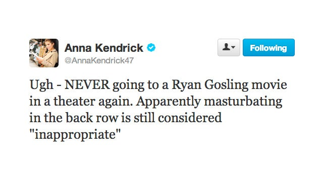 Anna Kendrick Is Done Watching Ryan Gosling Movies in Public Spaces