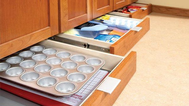 Add Extra Storage to Your Kitchen with Some Under-Cabinet Drawers