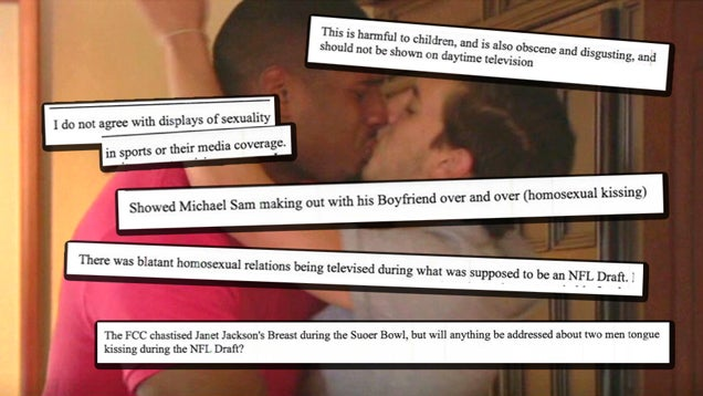 Every FCC Viewer Complaint About Michael Sam Kissing His Boyfriend
