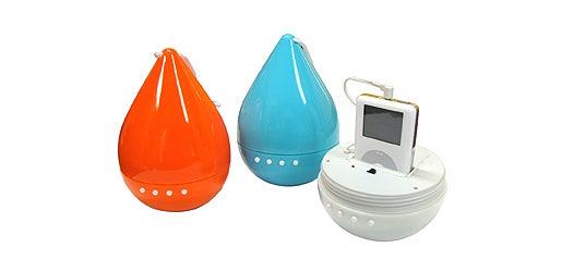Teardrop-shaped iPod Dock is Showerproof