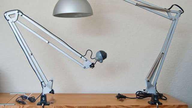 Hack an Ikea Lamp into an Adjustable Webcam Mount