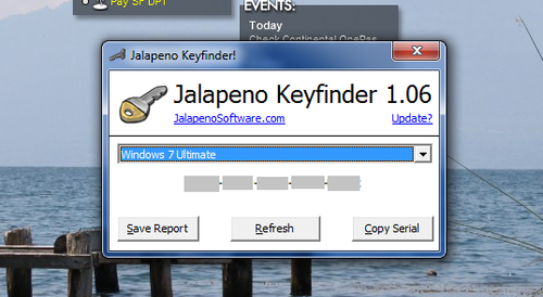 Jalapeno Keyfinder Retrieves Lost Serial Numbers
