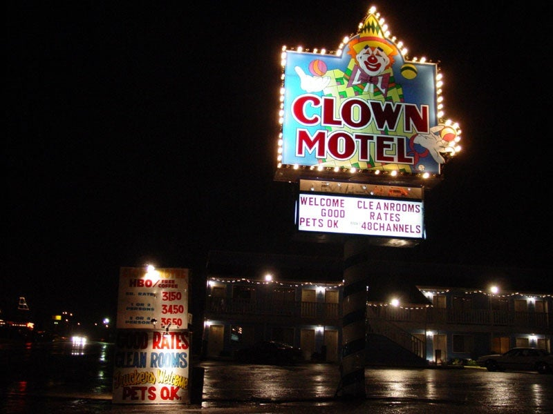 Nightmare fuel: Welcome to the Clown Motel