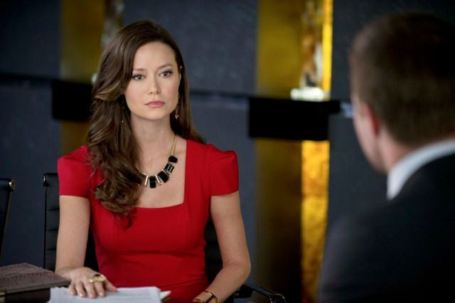 Summer Glau is ready for boardroom battle in latest Arrow images
