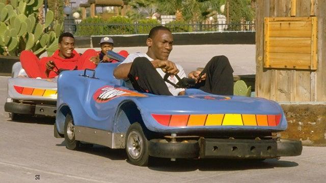 This Evening: Looks Like It's Bumper Cars With Michael Jordan And Orlando Woolridge