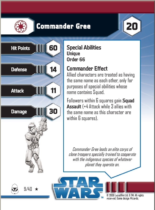 Star Wars Miniatures Sneak Preview: Commander Gree