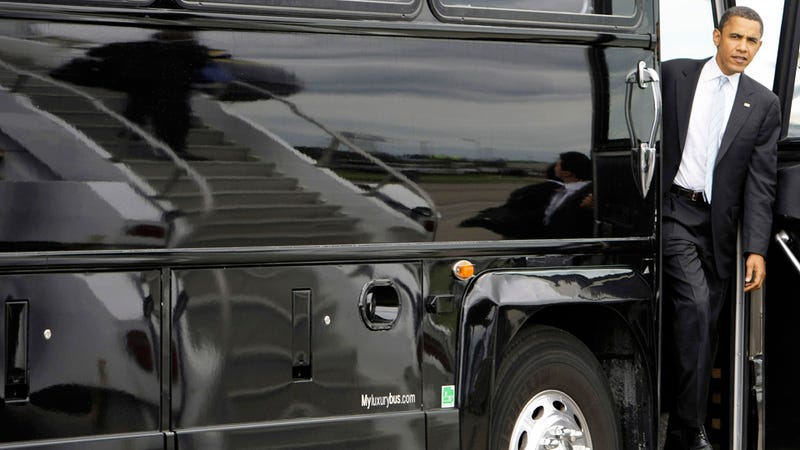 Obama to Ride Bus Around Midwest, Yelling 'Jobs'