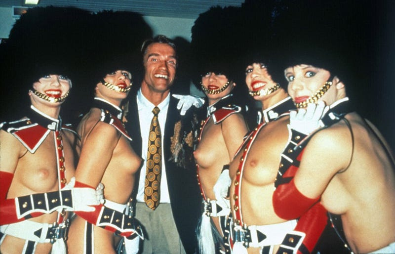 Arnold Schwarzenegger's Mysterious Sexy Naked Lady Soldier Harem