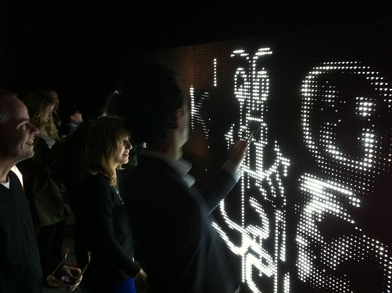 Water-Activated LED Wall: Sounds Dangerous, Looks Beautiful