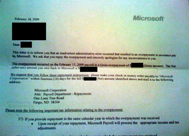 Microsoft Cuts 1,400 Employees And Then Asks For Severance Package Refunds