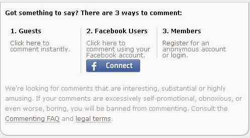 Commenting Via Facebook: A Primer