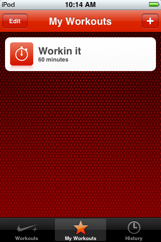 Review: Nike+ iPod Touch Workout App