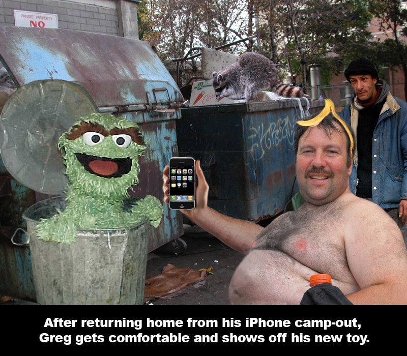 Sweaty iPhone Linesitter Photoshop Contest: Pure Horror