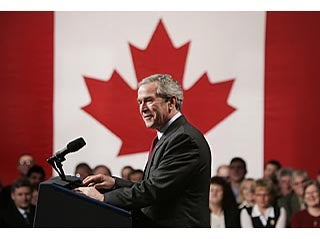 Bush Exiled to Canada