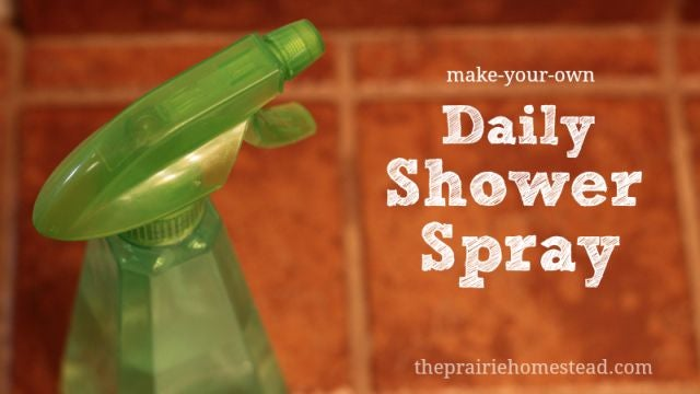 DIY Shower Cleaner Spray Makes Future Scrubbings Easy