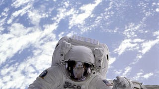 This is an actual human floating in space—<em>IN SPACE!</em>