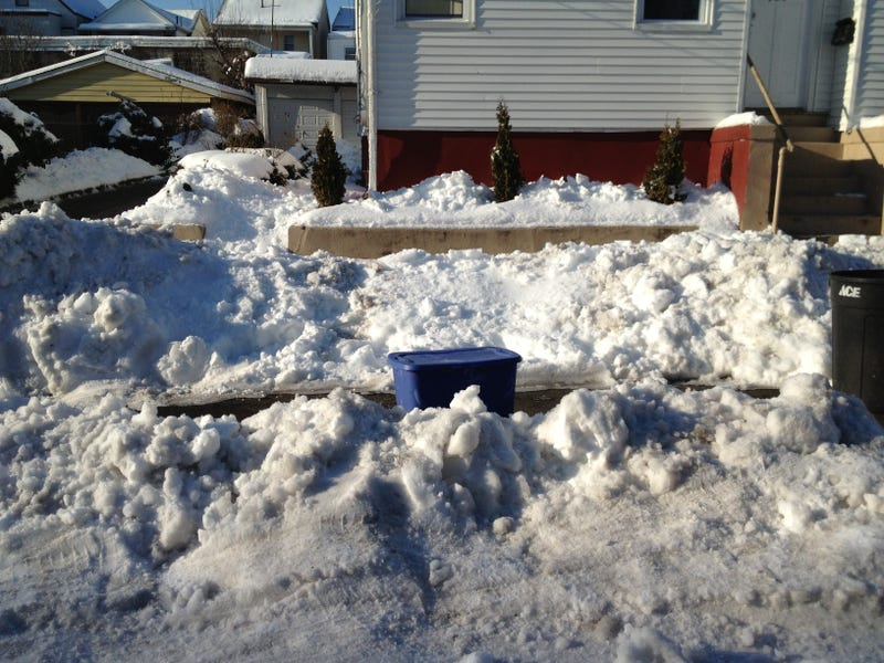 A spotter's guide to saving your dug out parking spot in the Snowpocalypse that is Paterson, NJ.
