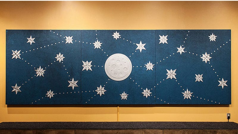 A Starry Mural That Hums When You Touch It