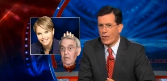 Stephen Colbert Reports on Reporters' Feud, Starts One of his Own