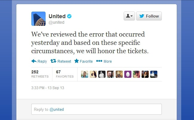 United Accidentally Gave Away Tickets for Free, Will Honor Mistake