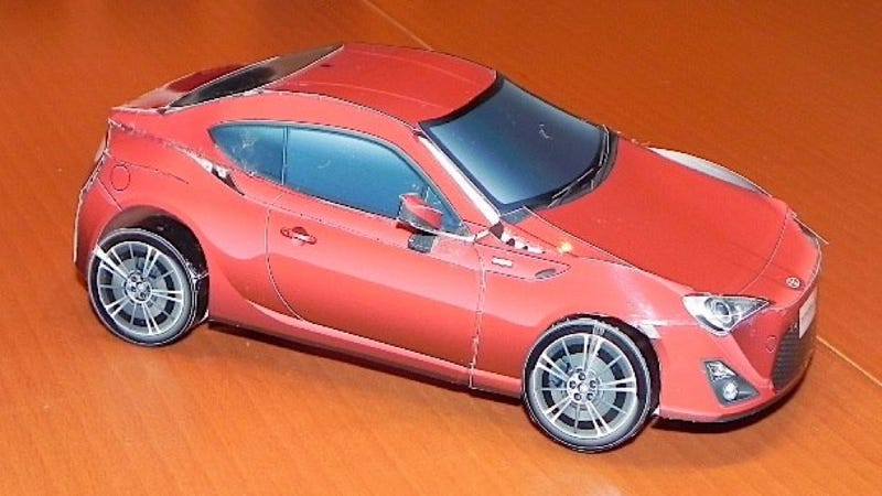 How To Make A Toyota GT-86 Out Of Paper