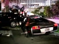 Alleged Drunkard Mangles Lambo in Santa Monica