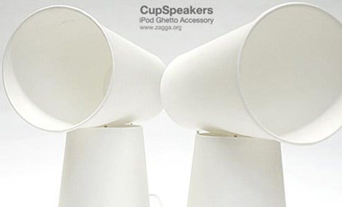 "Create ""Speakers"" from Earbuds and Paper Cups"
